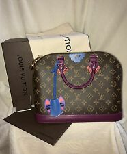 "LOUIS VUITTON ""TOTEM"" ALMA PM MONOGRAM HANDBAG -NEW-RECEIPT, LARGE SIZE, PURPLE"