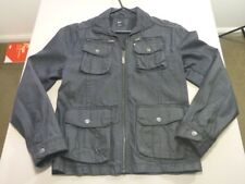 128 MENS EX-COND YD. INK BLUE ZIP UP L/S COAT / JACKET SZE 40 / LRG $230 RRP.