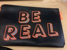Benefit Be Real  Black COSMETIC POUCH BAG TRAVEL New