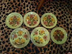 Unique hand-painted  plates from Switzerland (6) BIN 1140
