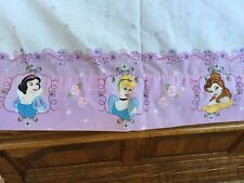 Disney Princesses Twin Size Flat Sheet Snow White Aurora Cinderella Jasmine
