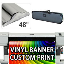 """Retractable Roll Up Banner Stand Height Adjustable Display HD 48"""" With Print"""