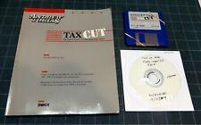"VINTAGE - TaxCut 1990 - DOS - 3.5"" floppy disks - tax preparation software"