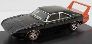Oxford/Schuco NEW HO 1/87 Scale 1969 Dodge Charger in Black w/Orange Spoiler