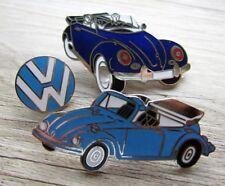 3 x Volkswagen Pin / Pins: 3 x  VW Käfer Cabriolet - emailliert - Edel !!! Set D