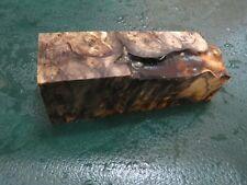 SPALTED BUCKEYE  BURL DELUXE KNIFE BLOCK/SCALES/ CALLS/ PEN BLANKS--BU--30
