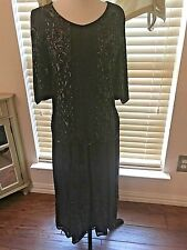 Vintage Sister Max Black Beaded Formal Skirt Suit Size S Small