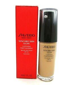 Shiseido Synchro Skin Glow Luminizing Fluid Foundation Spf 20 ~ Rose 5 ~ 1 oz