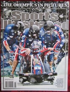 March 10 2010 Sports Illustrated The Olympics In Pictures USA Bobsled NO LABEL