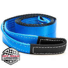 """3"""" x 8' Winch Recovery Towing Pull Strap Tree Saver 4x4 Off Road Tow Rope Chain"""