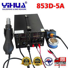 3IN1  853D 5A DC POWER SUPPLY HOT AIR GUN REWORK SOLDERING iron STATION