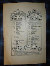 "Led Zeppelin 1969 LARGE 11""x16"" ORIG CONCERT PRINT AD Flushing NY Singer Bowl"