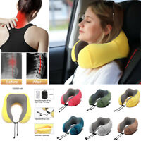 U -Shaped Memory Foam Rebound Travel Pillow Neck Support Head Rest with Bag