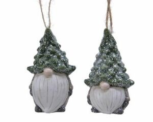 Two Gonks Bauble Tree Decorations Nordic Woodland Hanging Christmas Ornaments