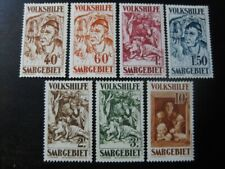 SAAR SAARLAND Mi. #144-150 scarce mint stamp set! CV $240.00