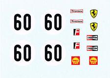 decals pour Dinky: Ferrari 312P Le Mans ref. 1432