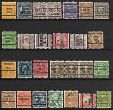 Etats Unis-Lot timbres préoblitérés et perforés