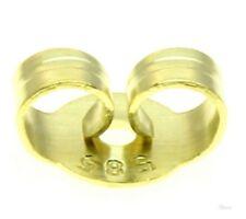 Ohrmutter Ohrstecker Schraube Mutter Klemm-Muttern 14kt echt Gold 585 Ear Nuts 4