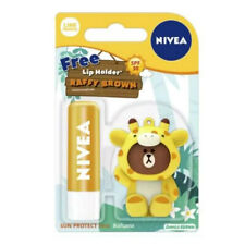 [NIVEA x LINE] RAFFY BROWN Sun Protect Moisturizing Lip Balm SPF30 4.8g NEW