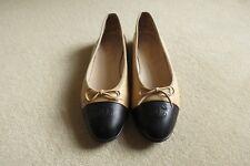 8d95868b9f3d Chanel pumps   ballet flats – light tan with black toe – EU 40   UK