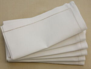 "Luxury Hemstitch 100% Cotton / Linen NAPKINS 18x18""/45x45CM Wedding Dinner Table"