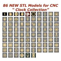 86 NEW Clocks 3d STL Models for CNC Router 3d-Printer Artcam Aspire Cut3d