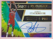JERRY STACKHOUSE 2017-18 SELECT IN FLIGHT SIGNATURES PRIZMS TIE DYE AUTO #10/25