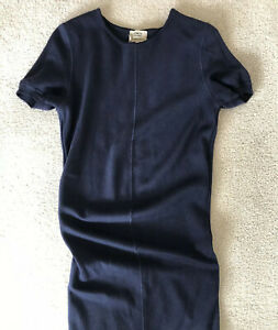 Ysl Edition 24 Navy Wool Dress Small Italy Midi Dress YSL Saint Laurent