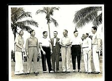 Jimmie Foxx C 1930's Golf Outing Miami News Service Photograph 8x10 Sepia