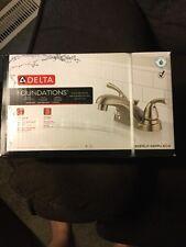 "Delta Foundations 4"" Centerset 2 Handle Bath Faucet, Lavatory Brushed Nickel NIB"