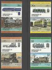 Timbres Trains Grenadines St Vincent 432/9 ** lot 9745
