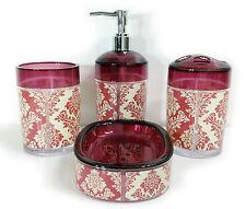 Accesorios de baño Set pedrería Plato de jabón dispensador Tumbler Portacepillos