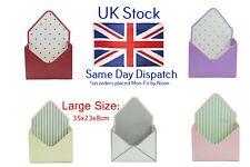 Large Flower Envelopes Folded Box Gift Box 23cm with Plastic Liner