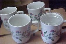 4 kun lun pink/purple  flower cups with lid