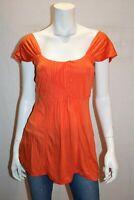 Capture Brand Orange Camisole Detail Sleeveless Top Size 10 BNWT #TK58