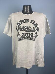 Men's New Era Indianapolis Motor Speedway Carb Day 2019 Gray Cotton Tee XL NWOT