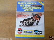 1979 ICESPEEDWAY,HALVE FINALE WK ASSEN 24/25-02-1978,POSTER BRUCE GRIBB UK