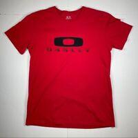 Oakley Red Short Sleeve T Shirt Men's Size Medium Crewneck