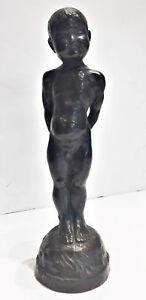Japanese Mid-Century Modern, Standing Nude Boy, Patinated Bronze Sculpture, 1960