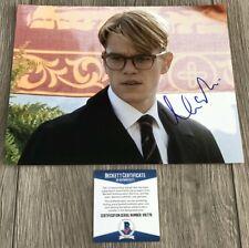 Matt Damon Signed The Talented Mr. Ripley 8x10 Photo w/Proof & Beckett Bas Coa