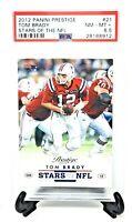 2012 Prestige Stars of the NFL TOM BRADY Football Card PSA 8.5 NM-MINT Low Pop 4