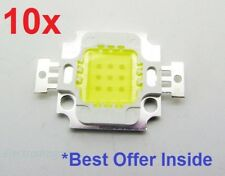 10 pcs 10W 12V DC white High Power LED SMD bead Chips bulb light lamp.