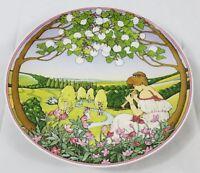 Heinrich Germany Villeroy Boch Fruhling Decorative Deutsche Hanging Plate vtg