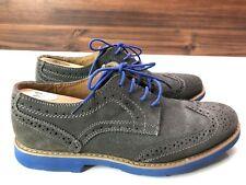 Stafford Mens Dress Shoes Wing Tip Suede Grey Size 9M