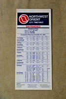 Northwest Orient City Timetable - San Francisco - Oct 25, 1981