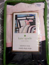 Kate Spade New York Candy Shop Stripe Euro Pillow Sham-New In Pkg.