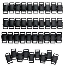 50× Plastic Side Release Buckles for Webbing Pet Collar Bag Strap Clips 3/8 Inch