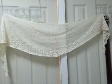 handknit wool/mohair/acrylic blend lace scarf/stole/wrap
