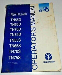 New Holland TN55D TN65D TN75D TN55S TN65S TN75S Tractor Operators Manual 2/02 NH