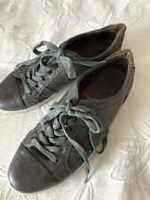 Aldo Men's Leather Lace Up Sneakers Shoes Gray Brown Casual Sz 45 EU Sz 12 US